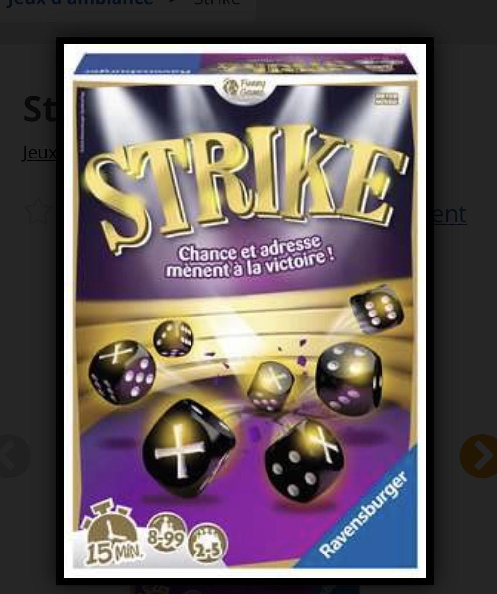 Jeu Ravensburger : Strike (via coupon)