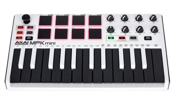 Clavier / Contrôleur MIDI Akai Professional MPK Mini MK2 - Blanc