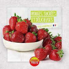 Barquette de Fraises rondes - 500 grammes origine France