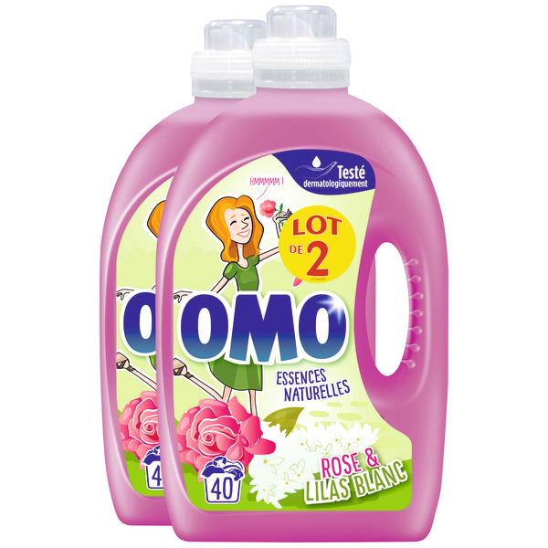 Lot de 2 bidons de Lessive liquide Omo - 2 x 2 L, diverses variétés (Via 8.40€ sur la Carte de Fidélité)