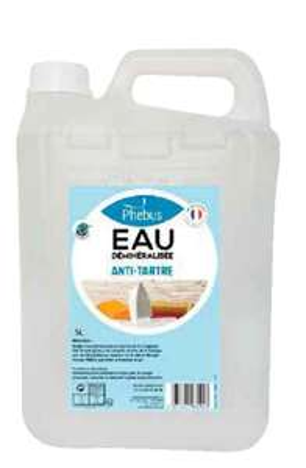 Bidon d'eau déminéralisée antitartre Phebus (5 litres)