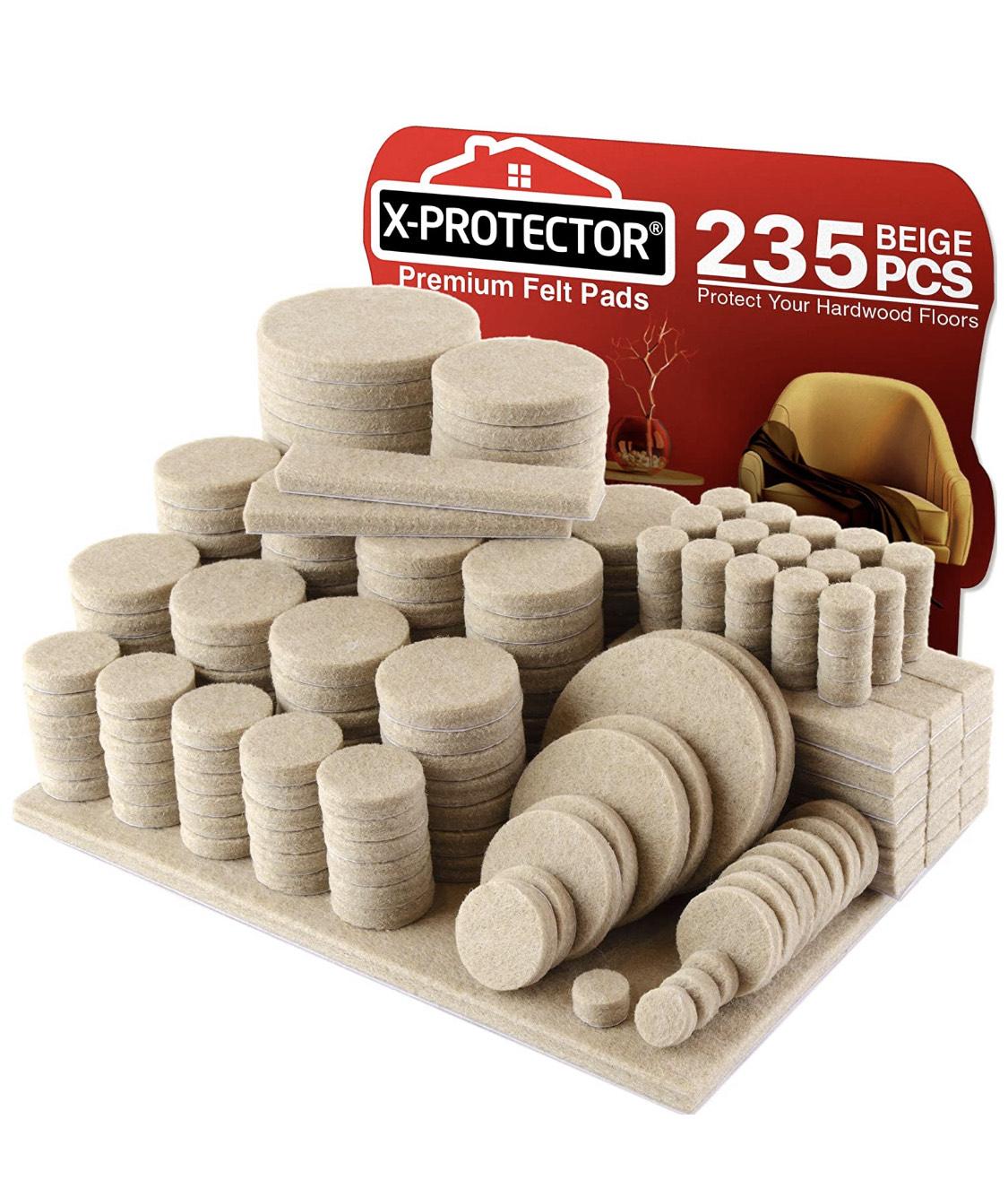 Patins en feutre pour meuble - 235 pièces (vendeur tiers)
