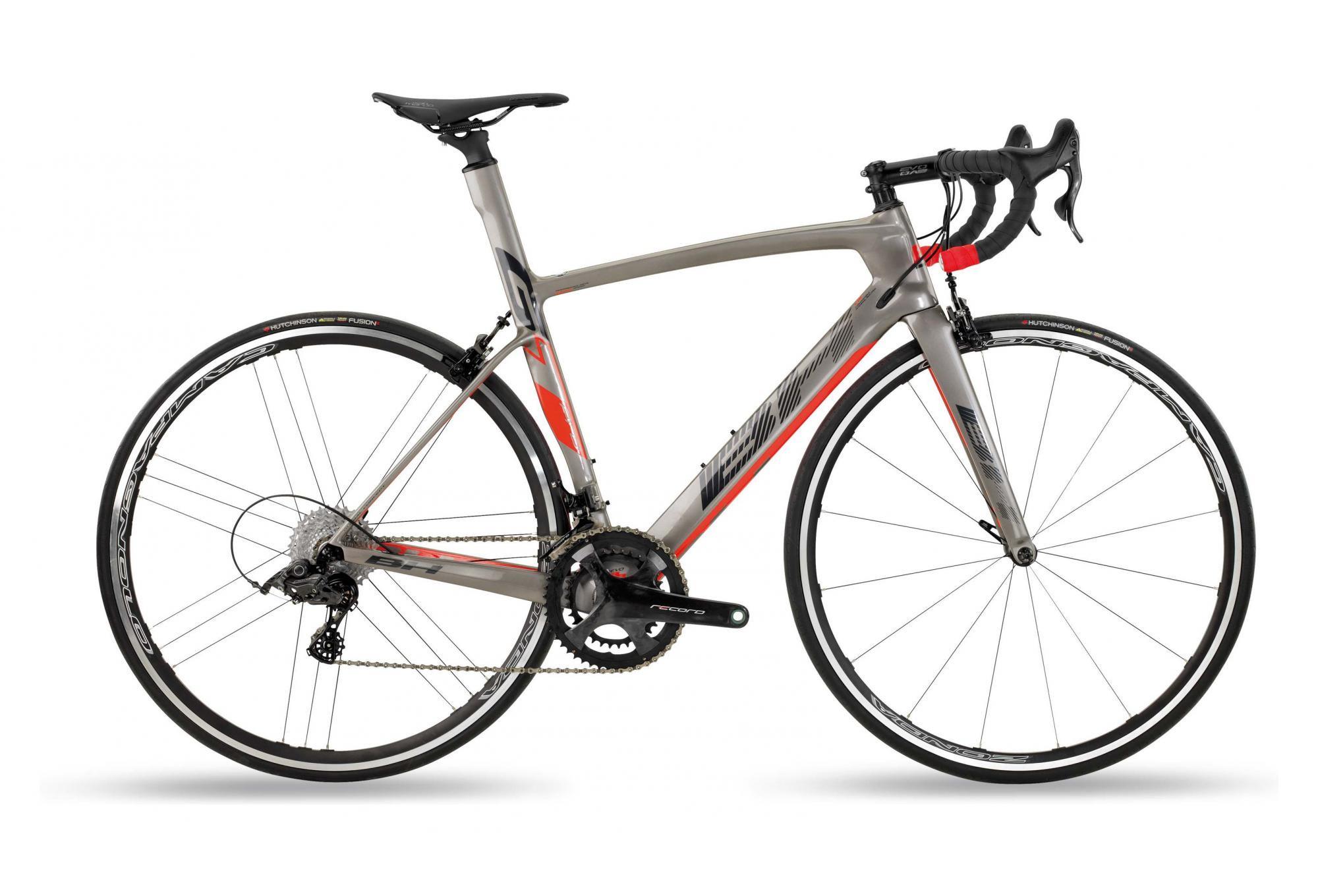 Vélo de route BH G7 Pro 6.0 Campagnolo Record 12V - Gris / Rouge, Tailles S à L