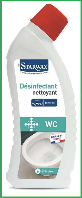 Nettoyant pour wc avec javel Starwax - 0.75 L