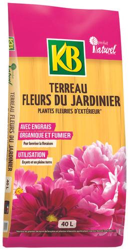 Lot de 3 sacs de terreau KB Fleurs du jardinier (3 x 40 Litres)