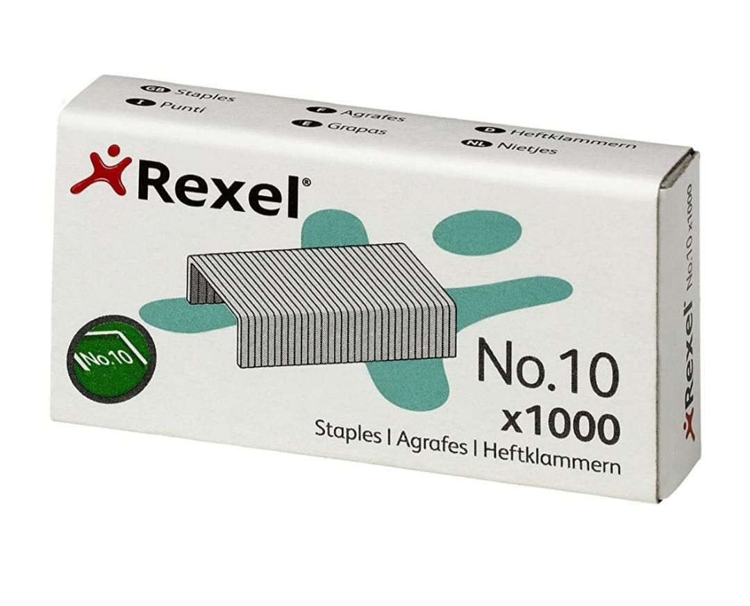 Lot de 3 packs de 1000 agrafes N°10 Rexel 06150