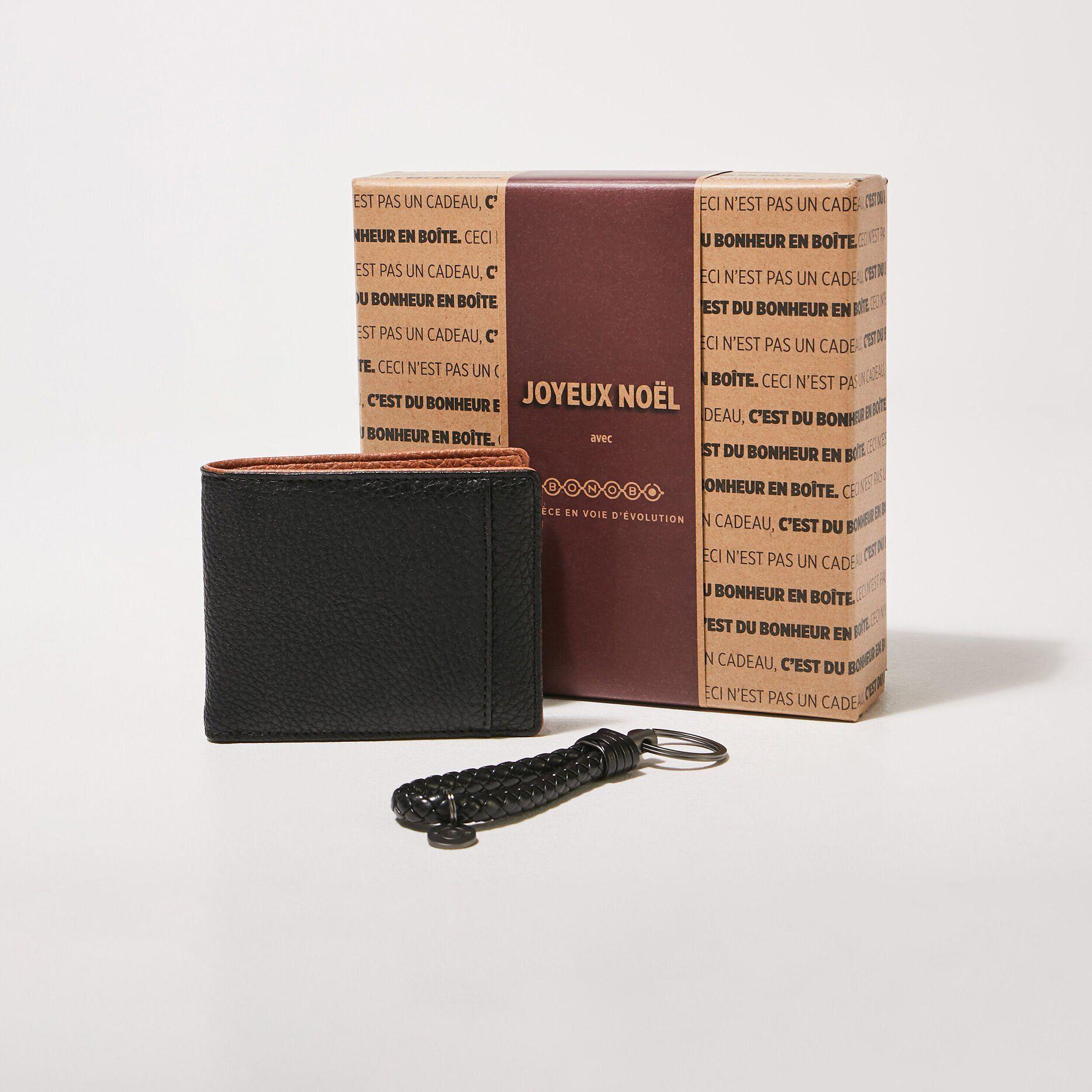 Coffret portefeuille et porte-clés - Noir