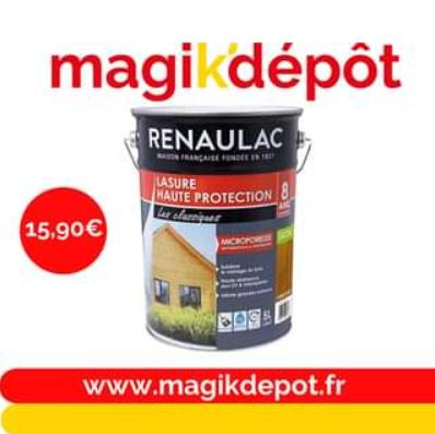 Lasure Renaulac - 5L, Magik'Dépot Leers / La Sentinelle (59)