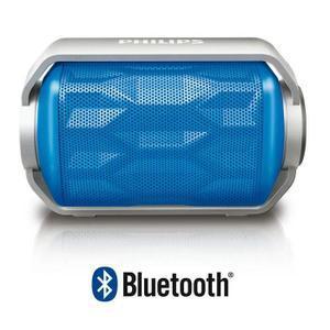 Enceinte Bluetooth Nomade Philips BT2200B/00 - résistante aux projections d'eau, 2,8W, Bleu
