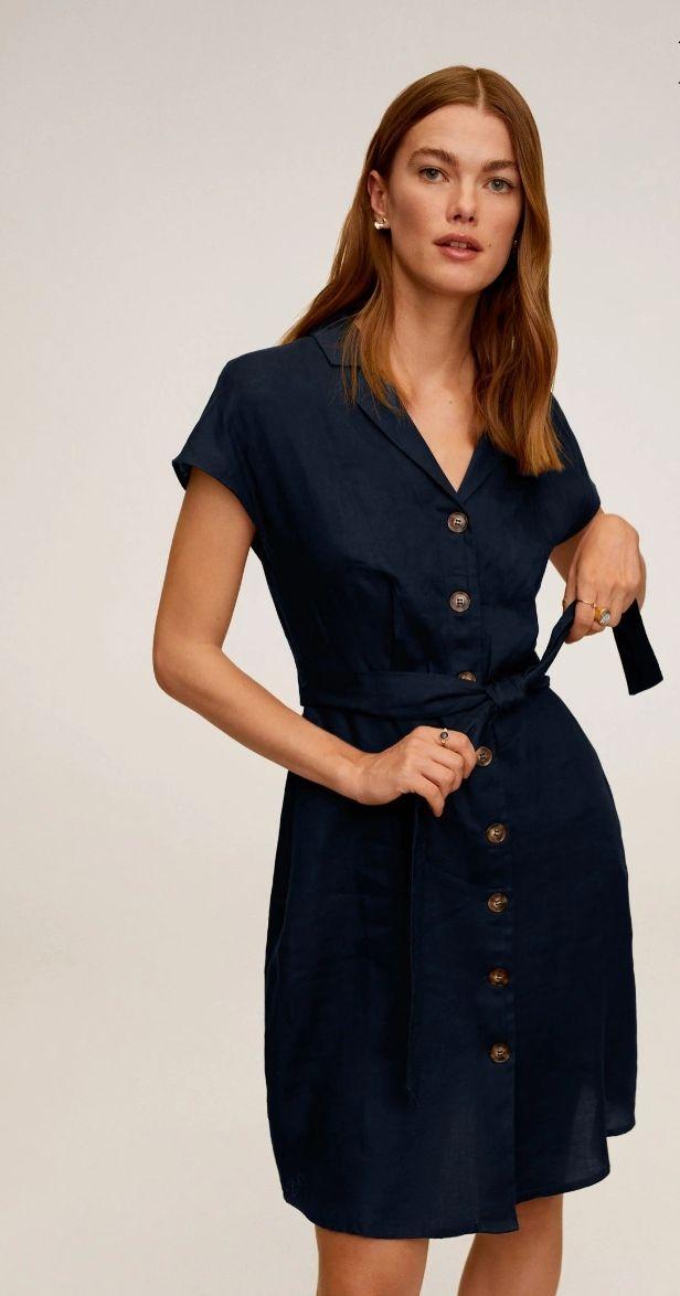 Robe lin ceinture - Coloris et tailles au choix