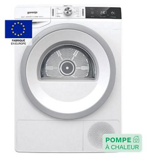 Sèche linge pompe à chaleur Gorenje DA83IL/I (via ODR de 200€)