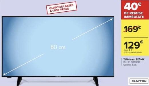 """TV 32"""" Clayton CL32LED21B - HD 720p"""