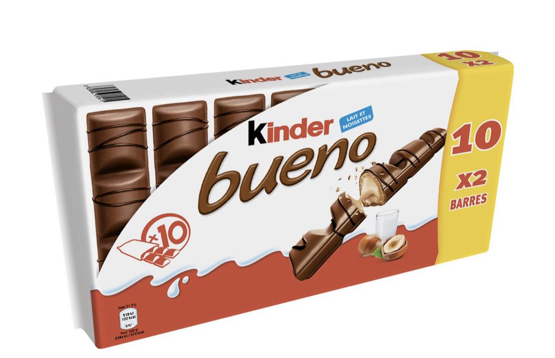 2 Paquets de 10 Kinder Bueno - 10 x 2 barres