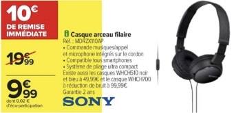 Casque filaire Sony MDRZX11DAP