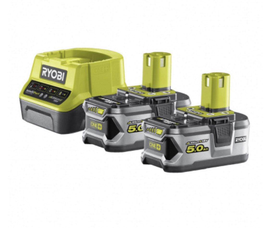 Pack Ryobi RC18120-250 : 2 batteries 5 Ah + Chargeur