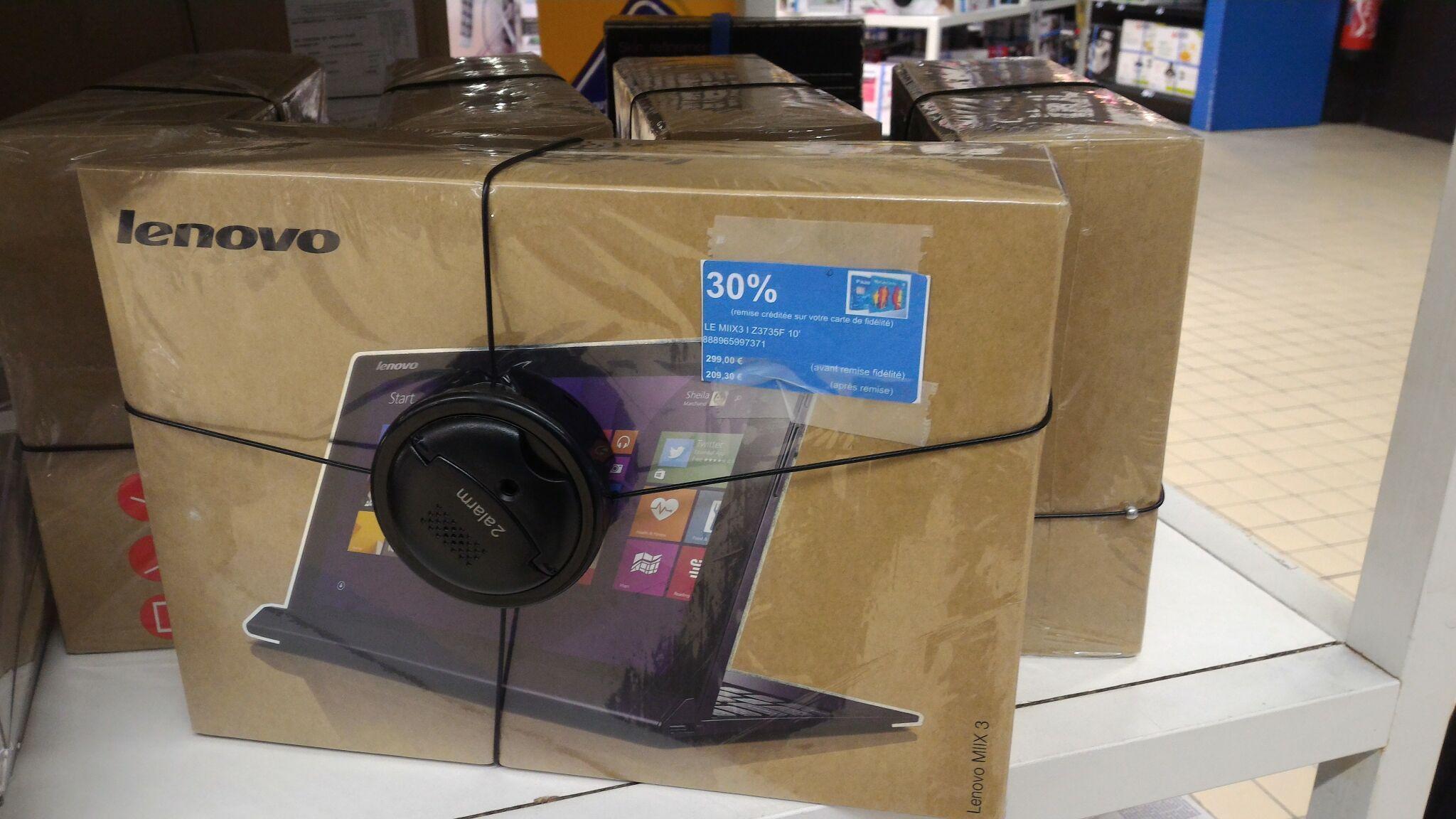 """PC portable tactile 10.1"""" Lenovo Mix 3 - Atom Z3735F 32 Go (avec 89.70€ sur la carte + ODR 50€)"""