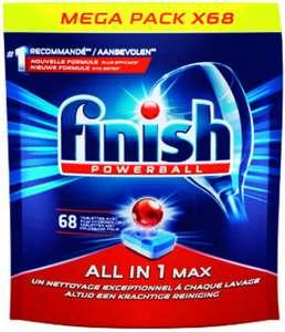Lot de 2 paquets de 68 tablettes lave-vaisselle Finish PowerBall tout-en-1 Max