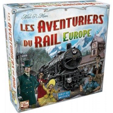Jeu de plateau Les aventuriers du rail Europe (Via coupon)
