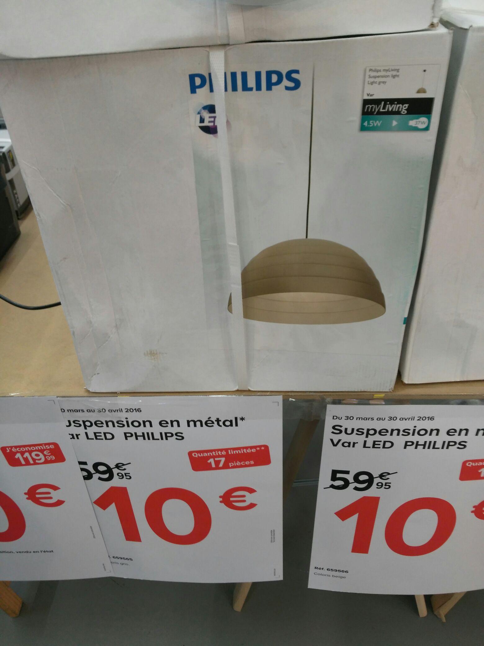 Suspension en métal LED Philips Var