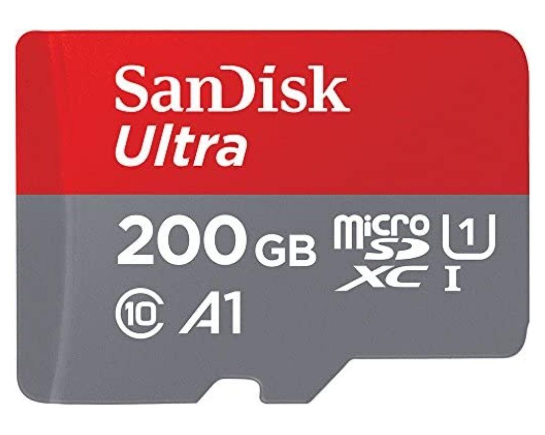 Carte Mémoire MicroSDHC SanDisk Ultra - 200 Go + Adaptateur SD