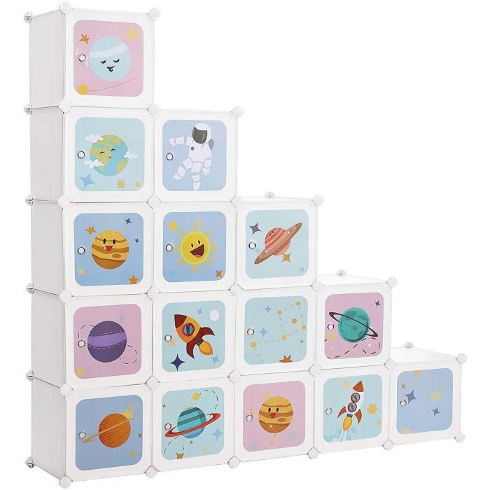 Meuble de rangement enfant 15 cubes Songmics LPC902W (Vendeur tiers)