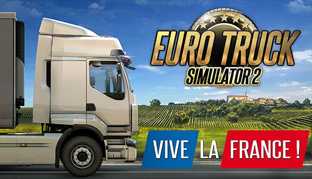 """Extension DLC Pack """"Vive la France"""" pour Euro Truck Simulator 2 sur PC (Dématérialisé)"""