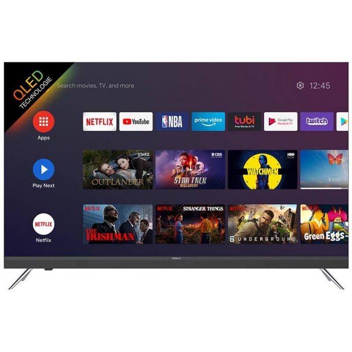 "TV QLED 65"" Polaroid - 4K UHD, Android TV, avec Barre de Son intégrée"