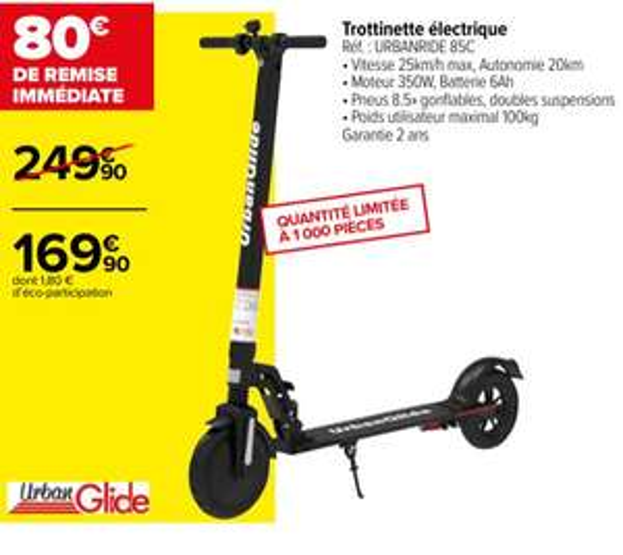 Trottinette électrique Urbanglide Ride 85c