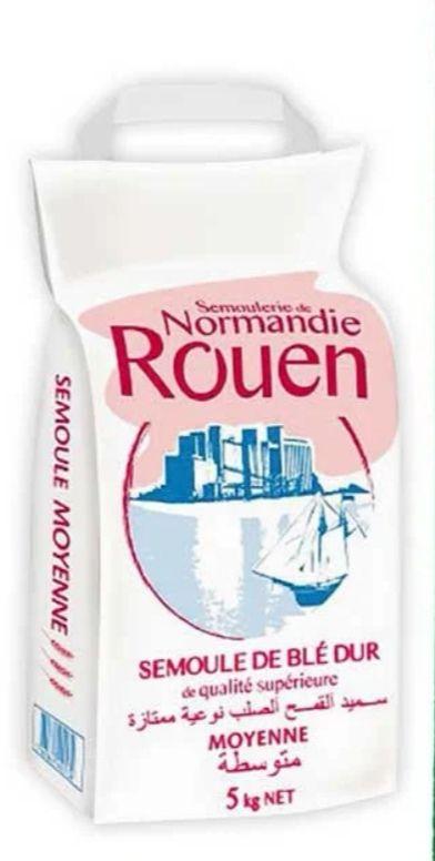 """Sac de semoule de blé dur """"Semoulerie de Normandie Rouen"""" - moyenne, fine ou extra fine (5 kg)"""