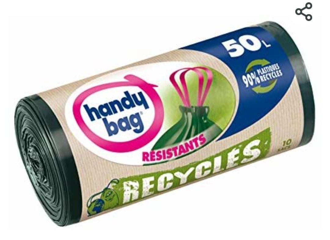 Rouleaux de 10 sacs poubelle Handy Bag - 50 L