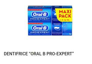 Pack de 2 tubes de dentifrice Oral B Pro Expert - 150ml