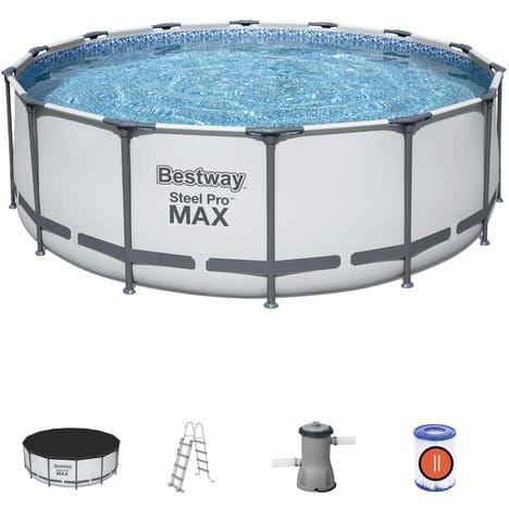 Piscine BESTWAY Steel Pro Max - 4.57x1.22cm - Dans une sélection de magasins