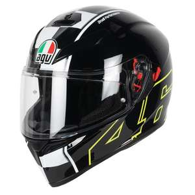 Casque de moto intégral AGV K3 SV Max Vision Rossi Celbr8 - Tailles au choix