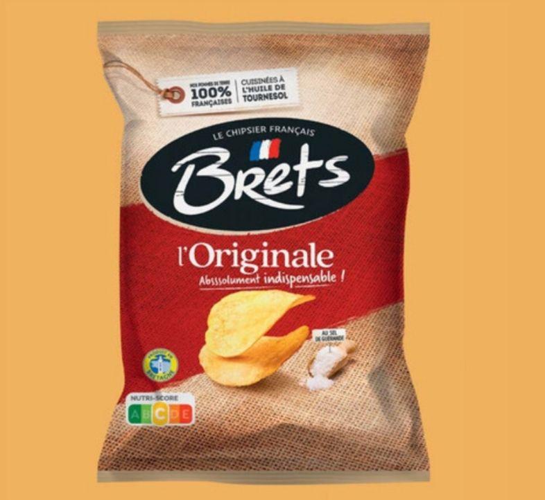 Lot de 3 paquets de Chips Bret's à l'Ancienne au sel de Guérande