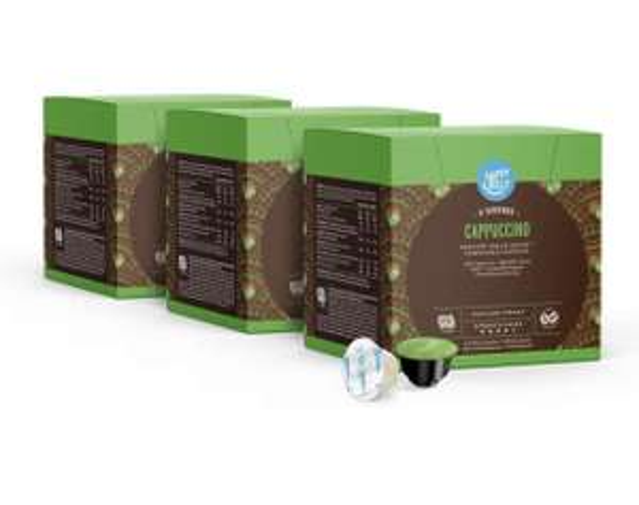 Capsules de café Happy Belly Cappuccino compatibles Dolce Gusto - 3 x 16