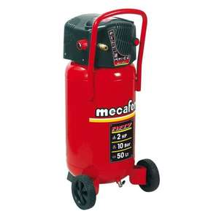 Compresseur d'air vertical Mecafer - 50 L sans huile, 2CV, 10 bars