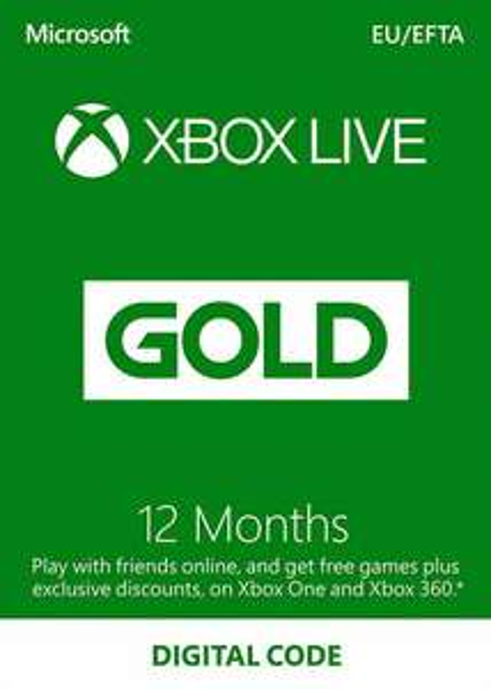 Abonnement 12 mois Xbox Live Gold (Clé Europe - Sans date d'expiration)