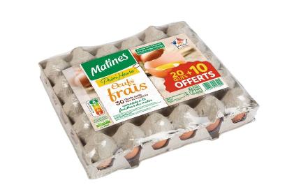Lot de 30 œufs frais Matines Prim'Heure