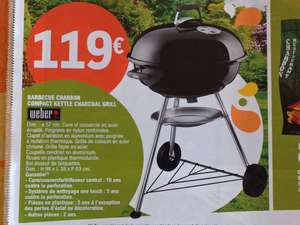 Barbecue Weber Compact Kettle Charcoal Grill - 57 cm