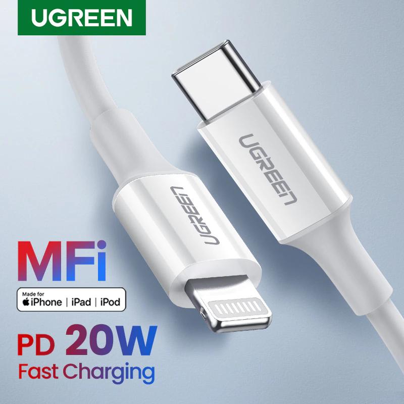 [Nouveaux clients] Câble USB MFi Ugreen - Type-C vers Lightning (25 cm)
