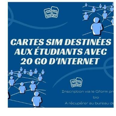 [Étudiants] Distribution Gratuite de Carte Sim avec 20Go d'internet + 1000 SMS + 2H d'appel téléphonique - STAPS Nantes (44)