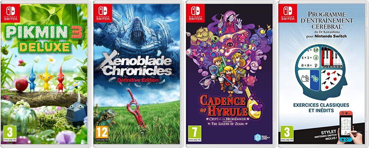 Sélection de jeux vidéo sur Switch en promotion - Ex : Paper Mario the Origami King; pikmin 3, xenoblade DE, etc...