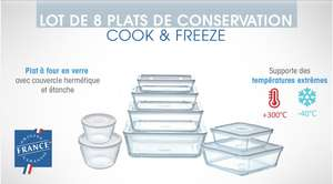 8 plats de conservation Pyrex Cook & Freeze