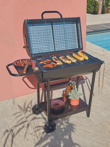 Barbecue charbon demi fût double