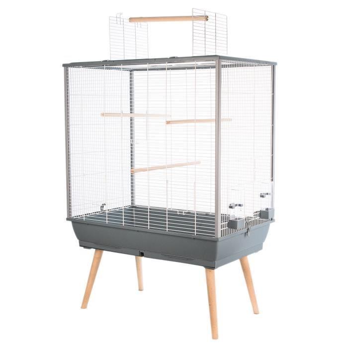 Cage surélevée pour oiseaux Zolux Néo Jili - L 78 x P 47.5 x H 112 cm