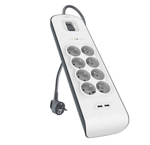 Multiprise parafoudre / parasurtenseur Belkin - 8 prises + 2 USB