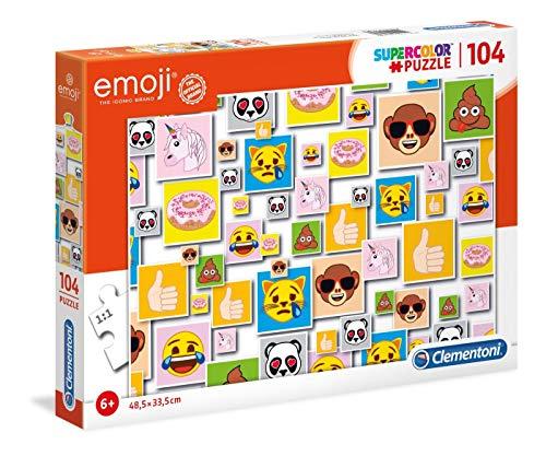 Puzzle Clementoni Supercolor Emoji - 104 pièces