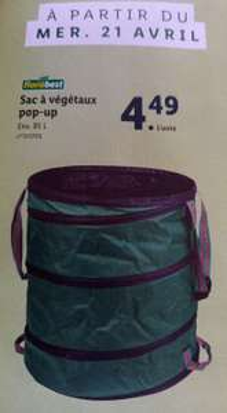 Sac à végétaux Pop-up - 85 litres