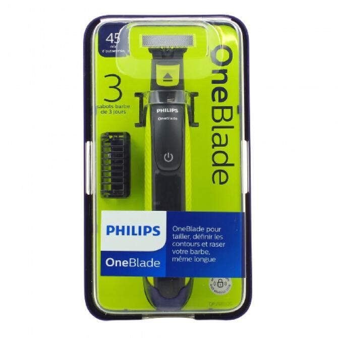 Tondeuse visage Philips Oneblade QP2520/20 (avec 1 lame + 3 sabots)