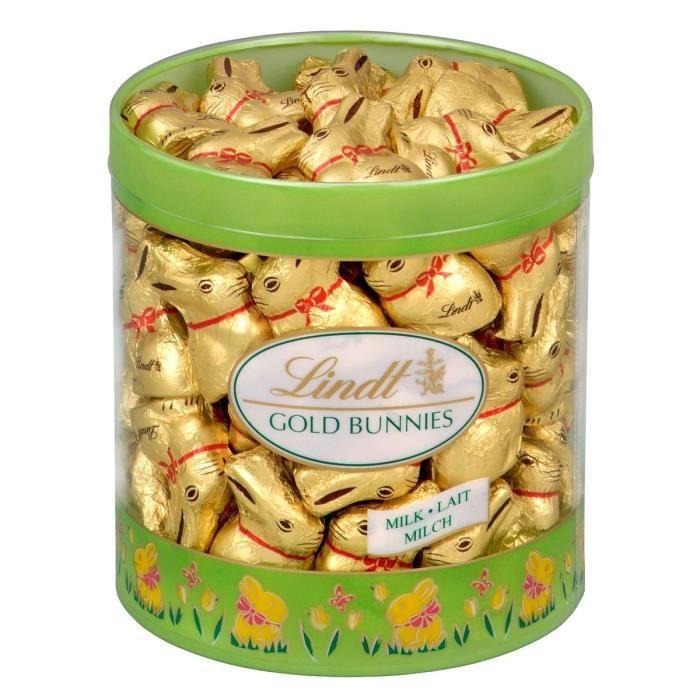 Chocolat au lait Lindt - Tubo Mini Lapin Or (700g)